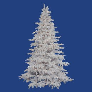 Vickerman Flocked White Spruce 54 Artificial Christmas Tree with