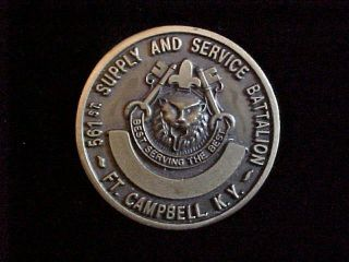 and Services Battalion Fort Campbell Kentucky Challenge Coin