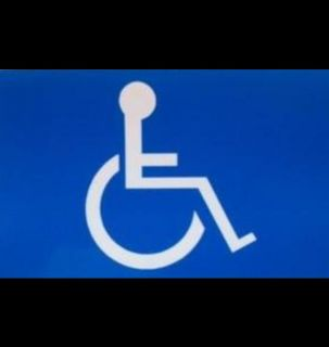 BIG SALE   BLUE HANDICAP WHEEL CHAIR  BUMPER STICKER DECAL 3 X 5