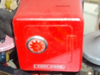 Fort Knox vintage toy metal safe piggy combination bank by Superior
