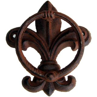 Tuscan Fleur de Lis Rustic Cast Iron Decor Door Knocker