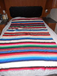 Beautiful Mexican Blanket Made in Mexico Tlaxcala Textiles