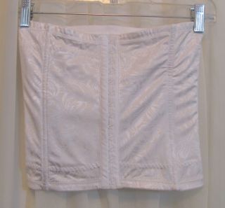 Flexees Body Shaper Waist Cincher White Brocade Print XL Tall Style