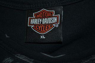 Harley Davidson Skip FORDYCE Riverside CA Sleeveless Tank Top T Shirt