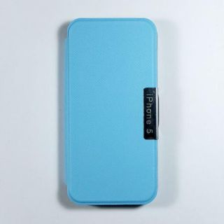 Good Flip Open Cover Case for Apple IPHONE5 Blue as Best Gift Llover