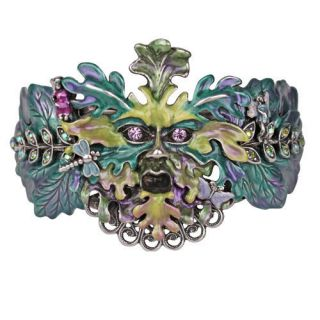 Kirks Folly Enchanted Forest Green Man Cuff Bracelet