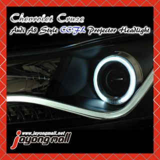 Angel Eye CCFL LED Head Lights Set for Kia Forte Koup 2010