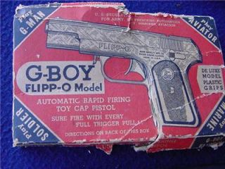1940s G Boy Repeating Cap Pistol Flipp O Model w Box