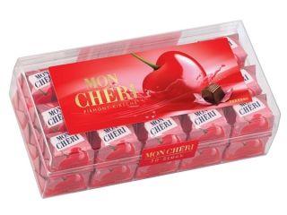 Ferrero Mon Cheri Liquor Filled Chocolate Covered Cherries Box 30 pcs