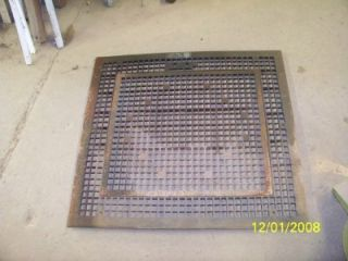 vintage cast iron floor heating grate Empire stove company