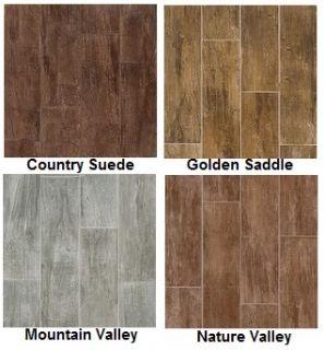 Interceramic Timberlands Porcelain Tile Flooring New 6 x 24