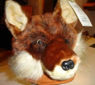 Sly Red Fox Hat Mascot Hound Mask Wolf Cub Scout Cap