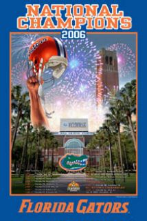 Florida Gators Football 2006 National Champions Commemorative Poster