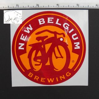 New Belgium Brewing bicycle sticker decal beer Fort Collins Colorado
