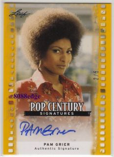 Autograph Pam Grier 2 5 Auto Foxy Jackie Brown Miami Vice