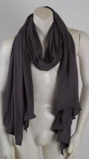 Fluxus New Faded Black Dark Grey Nomad Scarf Wrap Unisex Man Woman