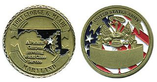 Army Fort George G Meade MD Challenge Coin
