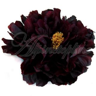 Party Beach Large Peony Flower Hair Clip Dress Brooch