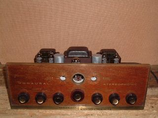 Madison Fielding 320 Early Stereo Tube Amp Working Late 50s Early 60s