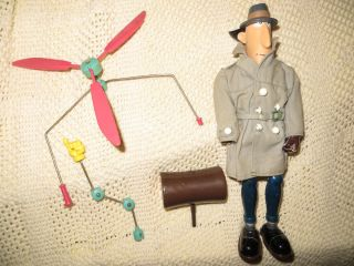 Vintage Inspector Gadget Action Figure with Accessories