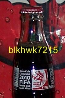 2010 FIFA World Cup Soccer South Africa 8 Ounce Glass Coca Cola Bottle