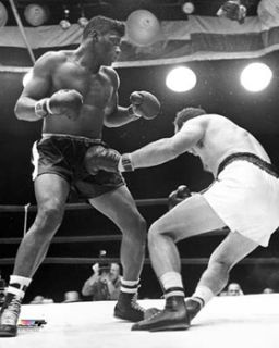 floyd patterson knockout 1960 boxing poster print