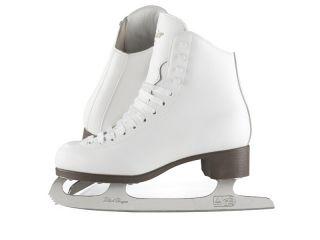 GSU121 Youth Girls Ice Figure Skates w Suede Lining White