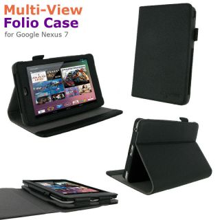 Multi Angle Folio Case Cover Stand for Google Nexus 7 Tablet