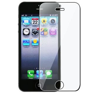 NEW WHITE CHROME HOLE HARD CASE COVER FOR APPLE IPHONE 5 + Screen