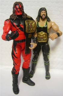 WWF Tag Team Legends Painted Action Figure Belt Mattel WWE LOD Hart