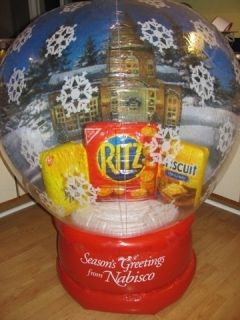 Nabisco Large Inflatable Store Display Ritz Crackers Snow Globe