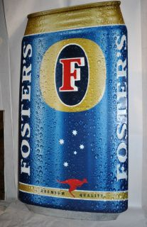 Alcohol Fosters Beer Tin Sign Great Color Man Cave Display Advertising