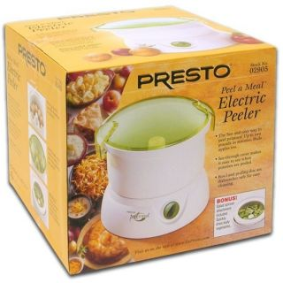 Peel A Meal Electric Peeler w Salad Spinner Attachment Food H1