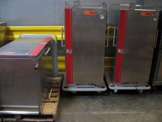 Carter Hoffman Stainless Steel Food Service Steam Hot Transport Carts