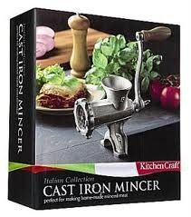 NEW Large Cast Iron 8 Mincer Meat Grinder Sausage Maker 3 Blades