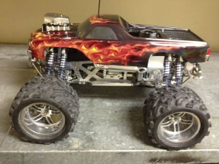 Custom Build Savage X Nitro burning Monster Truck BUILT BY FRANK KLOPP