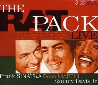 Pack LIVE Frank Sinatra Dean Martin Sammy Davis Jr New 3 CD Box Set