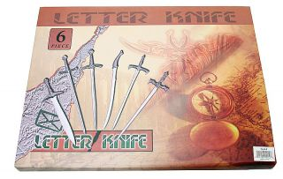 Set 6pcs Lord of The Rings Letter Opener Swords 5644