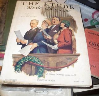The Etude Music Magazine December 1928 Merry Christmas