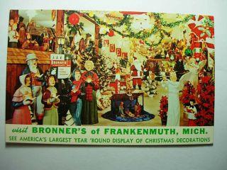 1970s Bonners Store Frankenmuth Michigan MI Christmas Xmas Santa