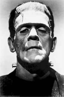 Movie Poster Frankenstein Boris Karloff Portrait
