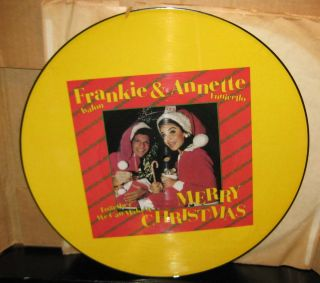Frankie Avalon & Annette Funicello Merry Christmas Picture Disc & Red