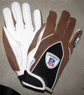 NFL Football Gloves   Brown (VERY RARE)   Cleveland Browns   HAND MOLD