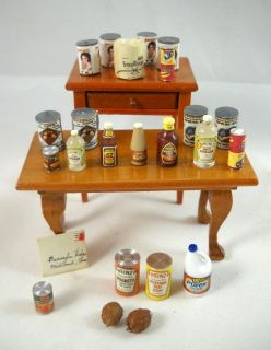 Miniature Lot of 24 Grocery Food Canned Heinz Purex Vinegar Mail