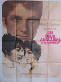 François TRUFFAUT French Movie Poster TWO ENGLISH GIRLS 1971