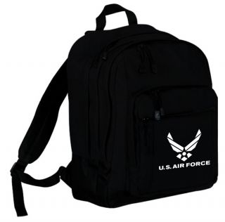 printed u s air force logo backpack