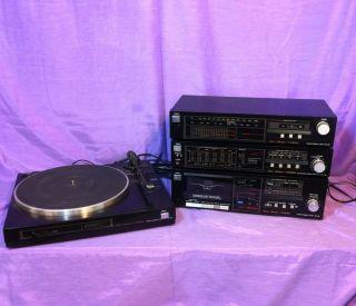 Vintage Fisher Studio Standard Home Stereo System Tuner, Cassette