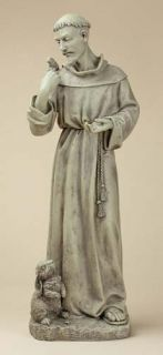 24 St Francis w Bunny Rabbit Outdoor Garden Statue