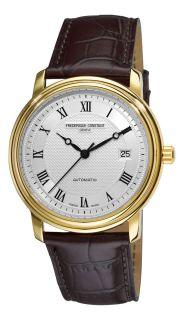 Frederique Constant Mens Classics Automatic Leather Strap Watch