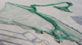 Fishing Net Green Funnel 60 Used Nautical Tropical Home Decor Wall